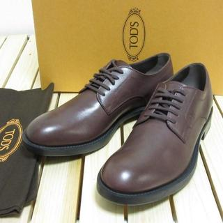 トッズ(TOD'S)の定価7.1万 新品 TOD'S トッズ レザーシューズ ダークボルドー 革靴 6(ドレス/ビジネス)