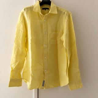 UNITED ARROWS - ユナイテッドアローズ リネン シャツ 麻 M イエロー 黄色 リネンシャツ