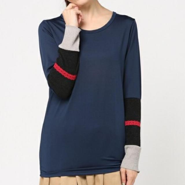 ScoLar(スカラー)のScoLar*ロングTシャツ レディースのトップス(Tシャツ(長袖/七分))の商品写真
