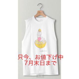 ビューティアンドユースユナイテッドアローズ(BEAUTY&YOUTH UNITED ARROWS)の別注】<maegamimami>GIRL ノースリーブTシャツ ◆ 限定♡(Tシャツ(半袖/袖なし))