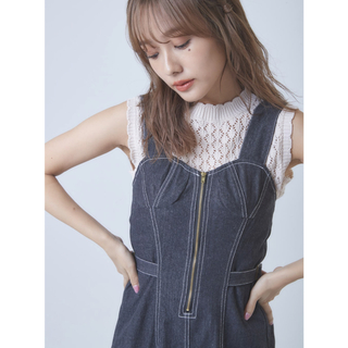 snidel - 今季 nwith.  完売品 デニム スカートサロペット ジャンスカ ワンピース