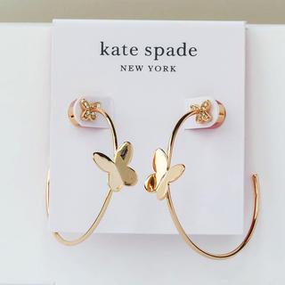 ケイトスペードニューヨーク(kate spade new york)の【新品¨̮♡︎】ケイトスペード バタフライ フープピアス(ピアス)