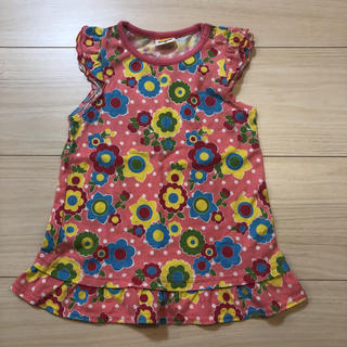 ムージョンジョン(mou jon jon)のピンク花柄トップス(Tシャツ/カットソー)