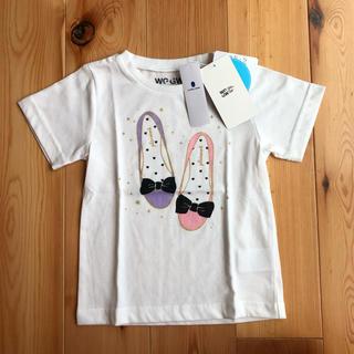 GLOBAL WORK - 新品タグ付き GLOBAL WORK ラメプリント バレーシューズ柄半袖Tシャツ