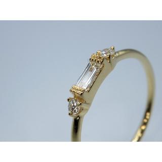 本物 K18YG 0.14ct ダイヤモンドリング 送料無料(リング(指輪))