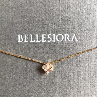 アガット(agete)の【美品】ベルシオラ テーパースクエア ダイヤモンド ネックレス(ネックレス)