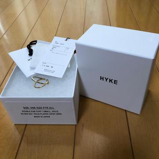HYKE - ハイク  hyke  ダブルイヤーカフ ゴールド
