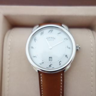 Hermes - エルメス メンズ 腕時計 アルソー 40mm ホワイト文字盤 新品本物 保証付