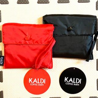 カルディ(KALDI)の(1567)☆ カルディ エコバック 赤 黒 エコバッグ KALDY (エコバッグ)