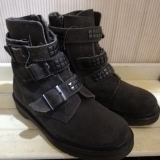 ドクターマーチン(Dr.Martens)のドクターマーチンサイドファスナースタッズベルトブーツグレーサイズUK6(ブーツ)