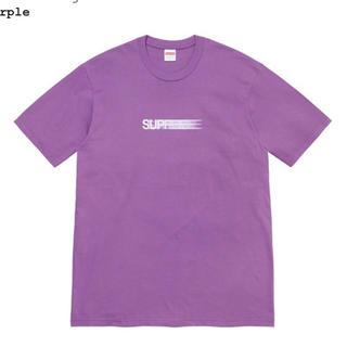 Supreme - L Supreme Motion Logo Tee 紫 パープル purple