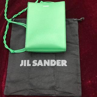 ジルサンダー(Jil Sander)のjil sander ジルサンダー ショルダーバッグ 緑 美品(ショルダーバッグ)