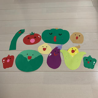 壁面 野菜(型紙/パターン)