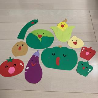 壁面 野菜4(型紙/パターン)