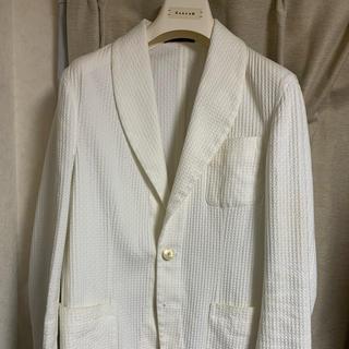 美品 THE GIGI ザ ジジ ショールカラージャケット 白 46(テーラードジャケット)