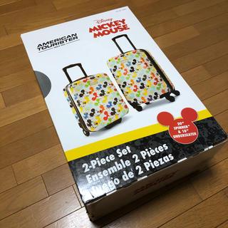 アメリカンツーリスター(American Touristor)の【新品】ディズニー ミッキーマウス キャリーバッグ 2個セット(スーツケース/キャリーバッグ)
