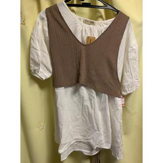 シマムラ(しまむら)のしまむら Tシャツ 付き キャミソール (Tシャツ(半袖/袖なし))