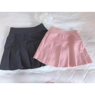ユニクロ(UNIQLO)のキッズ 女の子 プリーツフレアミニスカート 二点セット(スカート)