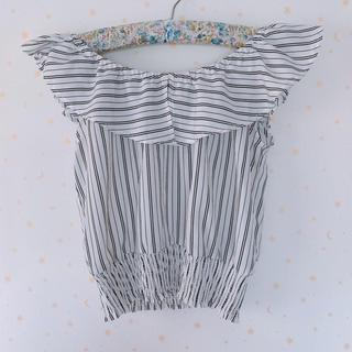 ムルーア(MURUA)のオフショル ストライプトップス(シャツ/ブラウス(半袖/袖なし))