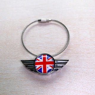 ビーエムダブリュー(BMW)のBMW MiNI ミニクーパー  ユニオンジャック キーチェーン キーリング(車内アクセサリ)
