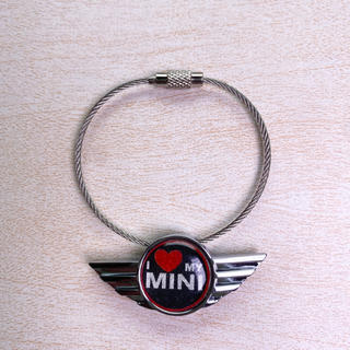ビーエムダブリュー(BMW)のBMW MiNI ミニクーパー  アイラブミニ キーチェーン キーリング(車内アクセサリ)