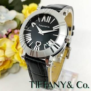 ティファニー(Tiffany & Co.)の極美品 ティファニー アトラス ハート Z1300 革ベルト レディース 腕時計(腕時計)
