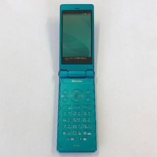 シャープ(SHARP)のdocomo AQUOSケータイ SH-06G ブルーグリーン(携帯電話本体)