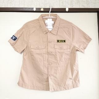 ローリーズファーム(LOWRYS FARM)の新品🔺メンズライクなベージュ ショートジャケットシャツ M 🔶春夏▲(シャツ/ブラウス(半袖/袖なし))
