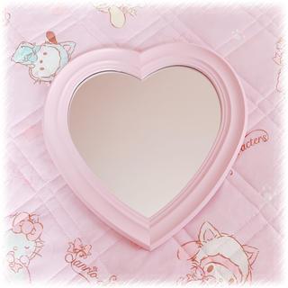 フランフラン(Francfranc)のピンク 壁掛け 鏡 ハート(壁掛けミラー)