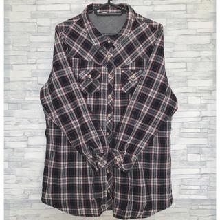 シマムラ(しまむら)のアベイル しまむら 大きいサイズ チェックシャツ ネルシャツ (シャツ/ブラウス(長袖/七分))