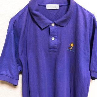ピーナッツ(PEANUTS)のPEANUTS スヌーピー ポロシャツ 刺繍 古着(ポロシャツ)