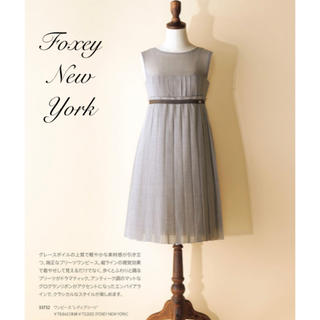フォクシー(FOXEY)のFOXEY NEW YORK♡ レディプリーツワンピース(ひざ丈ワンピース)