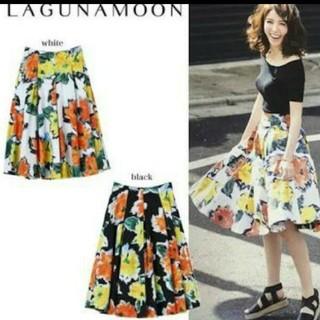 ラグナムーン(LagunaMoon)の良品 ラグナムーン 花柄スカート(ひざ丈スカート)