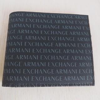 アルマーニエクスチェンジ(ARMANI EXCHANGE)のアルマーニエクスチェンジ ロゴウォレット 2つ折り財布  新品 未使用(折り財布)