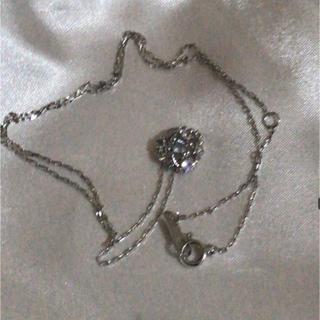 ヨンドシー(4℃)の4℃ k18 ホワイトゴールド アクアマリン ダイヤモンド ネックレス(ネックレス)