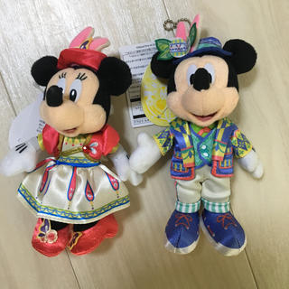 ディズニー(Disney)の『未使用』ディズニーシー限定☆2019イースター☆ミッキー&ミニー ぬいば2体(キャラクターグッズ)