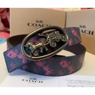 COACH - 39,400円COACH BIG馬車ロゴリバーシブルメンズレザーxPVCベルト