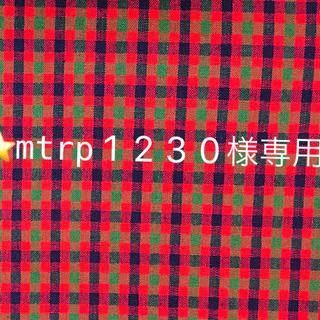 ファミリア(familiar)の⭐️mtrp1230様専用⭐️ ファミリア 赤チェック 1m(その他)