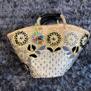 Fatima Morocco - かごバッグカゴバッグBAG刺繍花柄ファティマモロッコ花モチーフかごバッグ