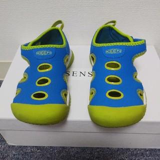 KEEN - KEEN キーン キッズサンダル 17,0cm ブルー 1点限り