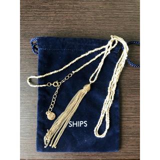 SHIPS - シップス SHIPS ゴールド ネックレス 巾着付き