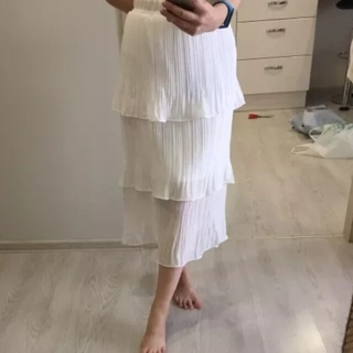 ZARA - レディース ロング 3段 スカート 新品 未着用 夏 フリーサイズ B