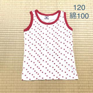 エフオーキッズ(F.O.KIDS)の120 赤ドットノースリーブ(Tシャツ/カットソー)
