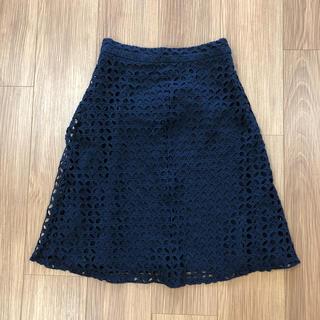 ザラ(ZARA)のZARA  膝丈レーススカート(ひざ丈スカート)