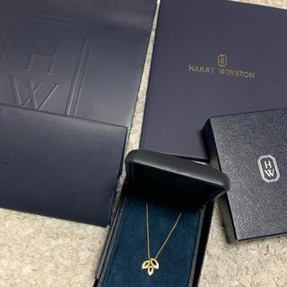 ハリーウィンストン(HARRY WINSTON)の美品ハリーウィンストンリリークラスター ミニ イエローゴールド(ネックレス)