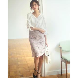 グレイル(GRL)のフラワーレースタイトスカート(ひざ丈スカート)