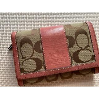コーチ(COACH)のコーチ 二つ折り財布 正規品 ピンク(財布)