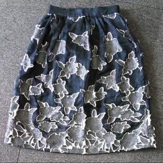 エイチアンドエム(H&M)のH&M♡花柄スカート36(ひざ丈スカート)