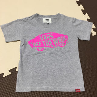 VANS - VANS ロゴプリントTシャツ グレー100cm