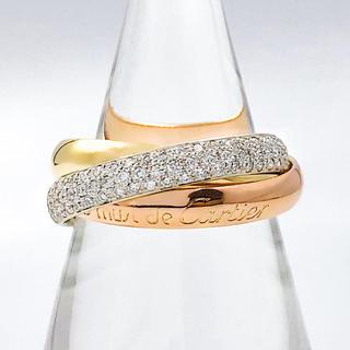 カルティエ(Cartier)の【仕上済】カルティエ トリニティリング ダイヤ 14号 レディース 指輪(リング(指輪))